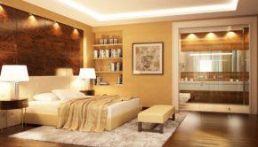 Schön eingerichtetes Schlafzimmer