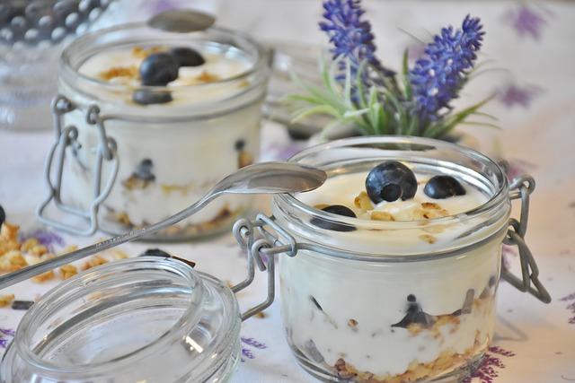 Köstlicher Joghurt im Glas