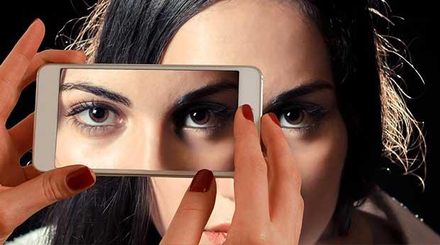 Frau Bild Smartphone