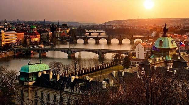 Sicht über Prag