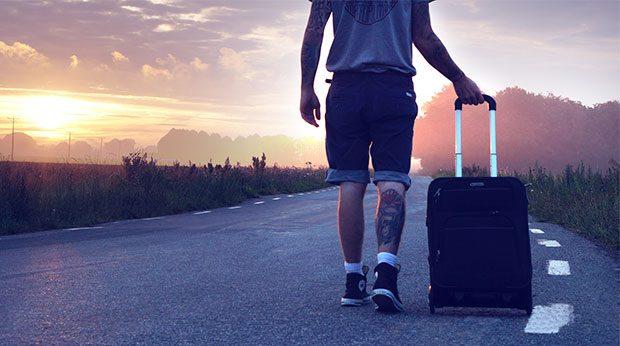 Schicker Reisekoffer auf Rollen